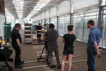 Filmteam bei uns in Aktion