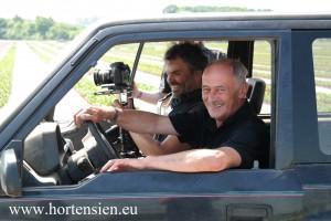 Hans-Gerd Pellens und Kameramann Rainer Ludwigs beim Dreh.