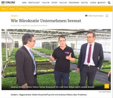 MdB Stefan Rouenhoff on a visit
