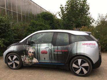 Elektro-Auto im Einsatz – Denk Grün