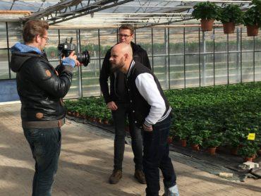 Filmdreh mit Gärtner Tristan