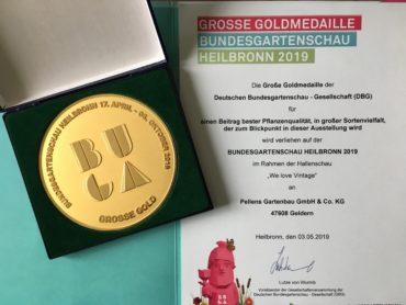 Große Goldmedaille der Buga Heilbronn